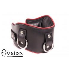 Avalon - CONQUER - Collar med god polstring, Svart og Rødt