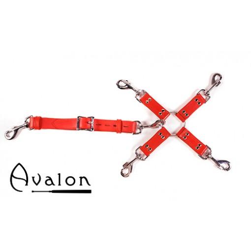 Avalon - SACRED - Hog-tie-sett med 5 deler - Rød