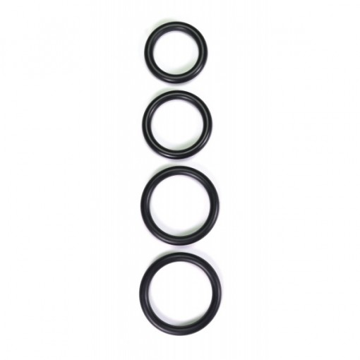 Rimba - Thick Rubber cockring sort