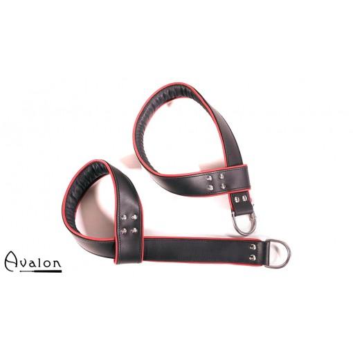 Avalon - AERIAL - Selvjusterende Suspensjoncuffs Svart og Rød
