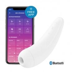 Satisfyer Curvy 2+ Trykkbølgevibrator med app - Hvit