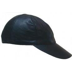 MR.B - Lær baseballcaps Unisex - Sort