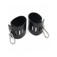 Rimba - Enkle håndcuffs med karabinkrok, sort