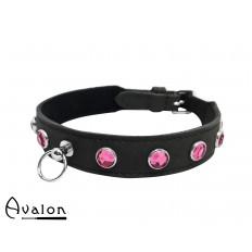 Avalon - DEVOTION - Collar med Rosa runde Stener og O-ring