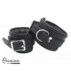Avalon - ALCHEMY - Polstrede Fotcuffs - Sort