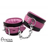 Avalon - ALCHEMY - Polstrede Fotcuffs - Rosa og sort